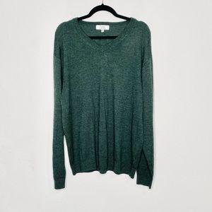 Turnbury Extra Fine Merino Wool Green Sweater XLT